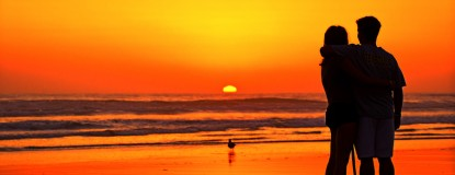 Couple Watches the Sunset at Oceanside - September 20, 2012